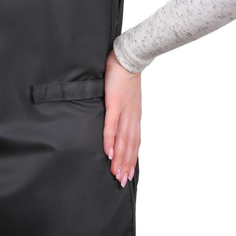 Фартук мастера POLE черный на липучке с карманами