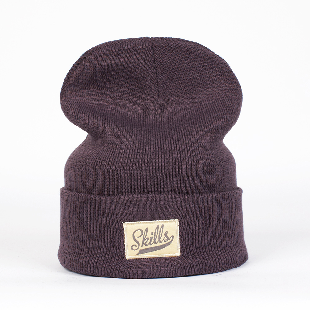 Шапка SKILLS Script patch Beanie PURPLE
