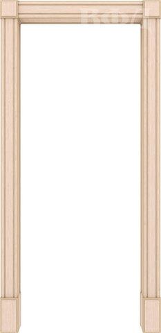 Арка межкомнатная шпонированная Владимирская фабрика дверей, Портал, цвет беленый дуб