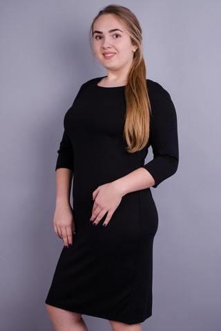 Аріна француз. Повсякденна сукня великих розмірів. Чорний.