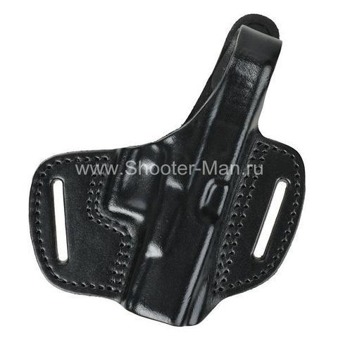 Кобура кожаная поясная для пистолета Глок 19 ( модель № 2 )