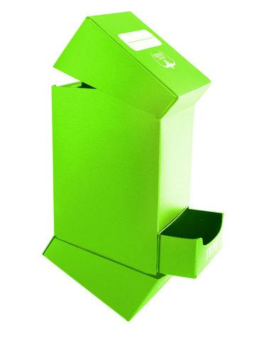 Ultimate Guard - Светло-зеленая коробочка на 100 карт с отделением для кубиков
