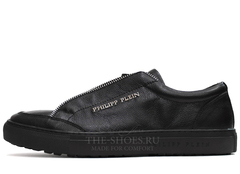 Кеды Мужские Philipp Plein Low-Top Zipper Classic Leather