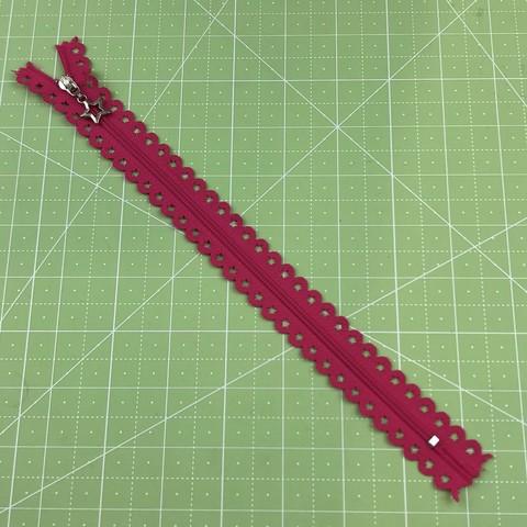 Молния  декоративная  25 см (ярко-розовая).
