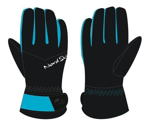 Nordski Jr Arctic Membrane детские перчатки black/aquamarine