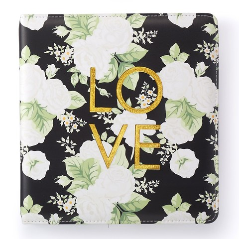 Альбом Small  Creative Photo Album от Webster's Pages -23/22/5 см-Black Floral