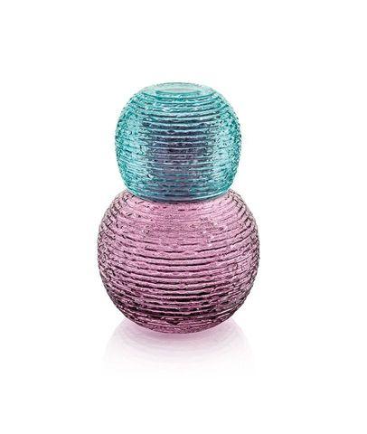 Набор бутыль и стакан IVV Multicolor бордовый