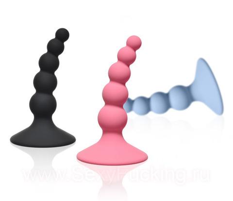 Анальная пробка - ёлочка Lola Toys Ribbed Plug (2,4 х 8,5 см)