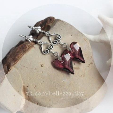 6240 Подвеска Сваровски Сердечко Wild Heart Crystal Lilac Shadow (17 мм) ()