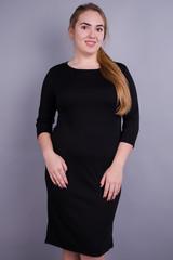 Арина француз. Платье больших размеров. Черный.