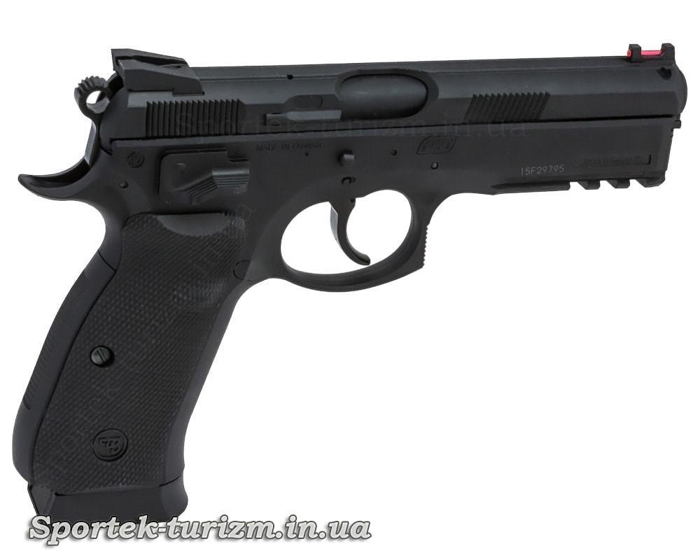 Вид справа на пневматический пистолет ASG CZ 75 P-07 Duty 4.5мм