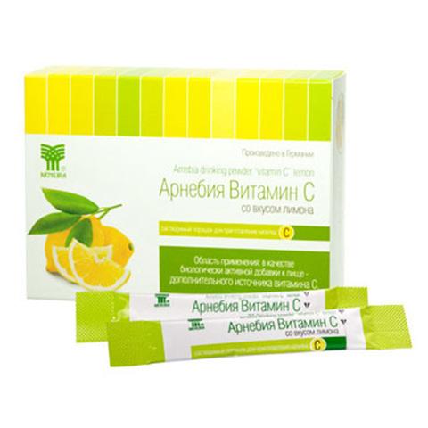 АРНЕБИЯ Витамин С со вкусом лимона, растворимый порошок для приготовления напитка (20 шт в упаковке)