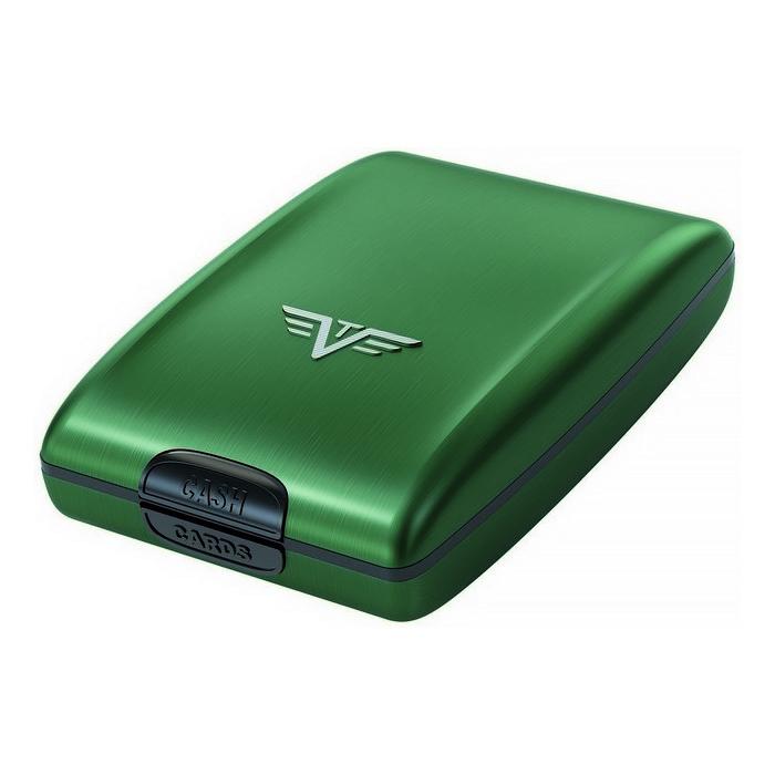 Кошелек c защитой Tru Virtu OYSTER, цвет зеленый , 102*70*27 мм
