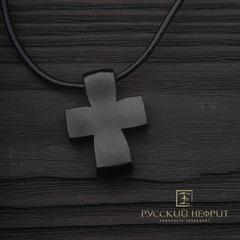 Крестик из чёрного нефрита