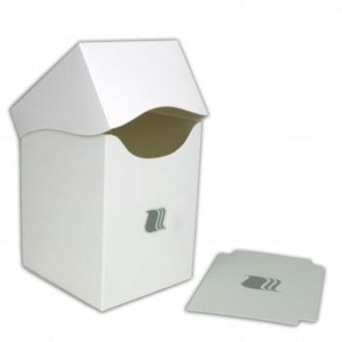 Пластиковая коробочка Blackfire вертикальная - белая (100+ карт)