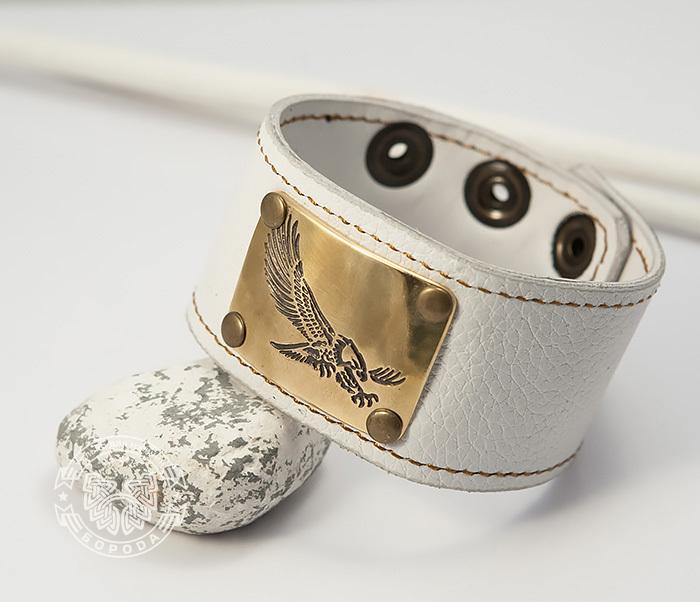 Boroda Design, Браслет «Орел» ручной работы из натуральной кожи цены онлайн