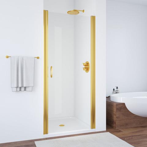 Душевая дверь в нишу Vegas Glass EP профиль золото, стекло прозрачное