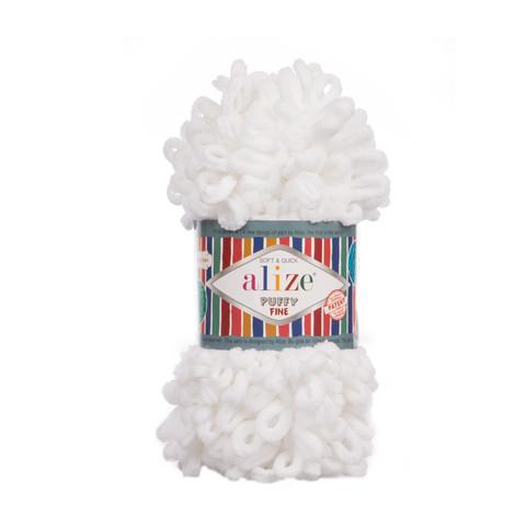 Купить Пряжа Ализе Пуффи Файн Код цвета 055 | Интернет-магазин пряжи «Пряха»