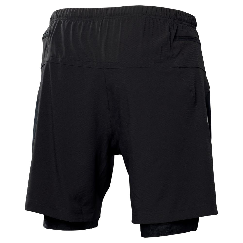 Мужские беговые шорты-боксеры Asics Fuji Short Asics Woven Short (110559 0497) черные фото