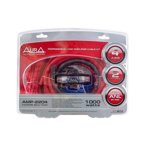 Комплект подкл. AURA AMP-2204 2*4GA