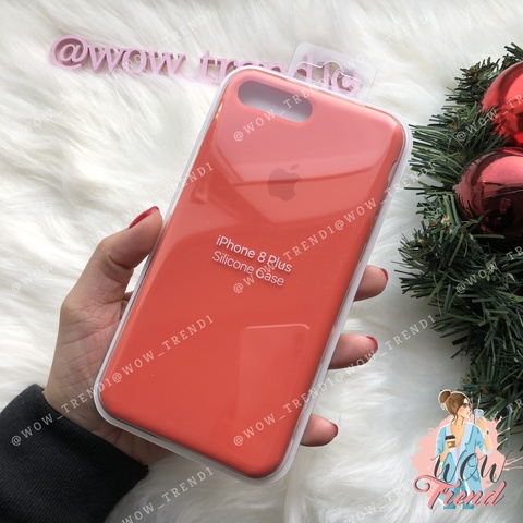Чехол iPhone 7+/8+ Silicone Case /spicy orange/ апельсин original quality