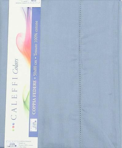 Простыня на резинке 200x200 Сaleffi Raso Tinta Unito с бордюром сатин синяя