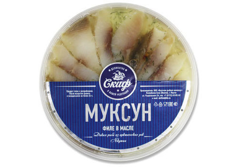 Муксун х/к, филе в масле, 180г