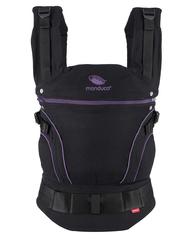 Слинг-рюкзак manduca BlackLine MidnightPurple (лиловый) в комплекте с накладками