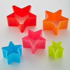 Набор пластиковых форм для печенья 5 размеров