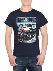 17626-3 футболка мужская, темно-синяя