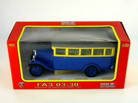GAZ-03-30 city bus 1:43 Nash Avtoprom