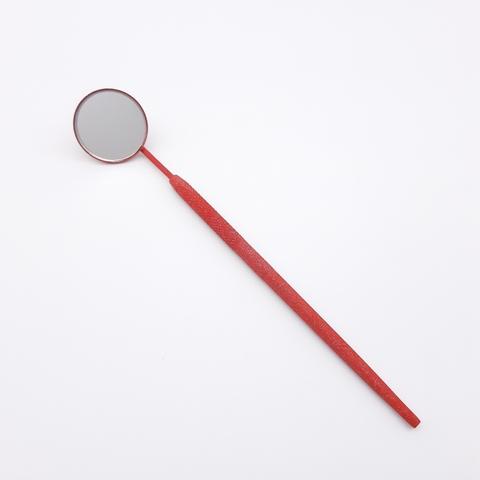 Зеркало для наращивания ресниц, титан/красное, MC-02JR