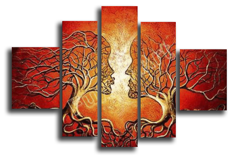 Модульные картины Корень поцелуя (Ручная работа маслом) р95.png