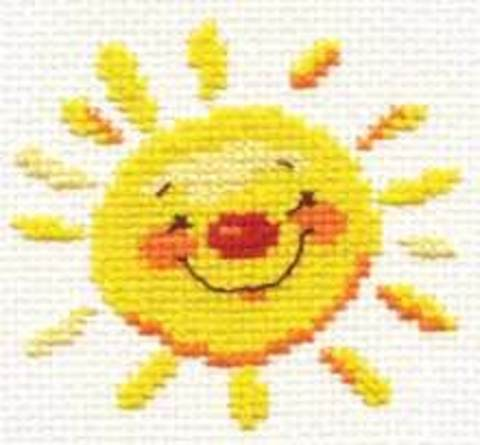 Солнышко¶Размер: 7х7 см ¶Кол-во цветов: 5