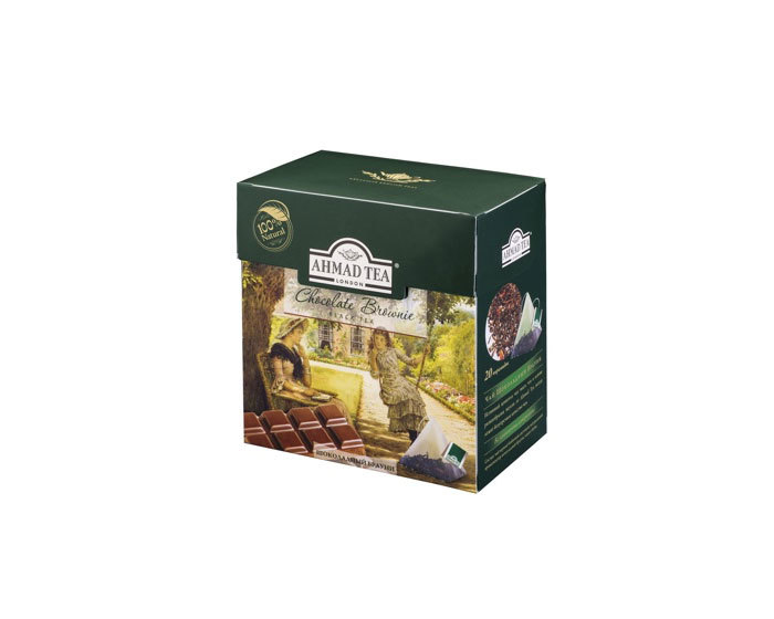 Чай черный в пирамидках Ahmad Tea Шоколадный брауни, 20 пак/уп (Ахмад)