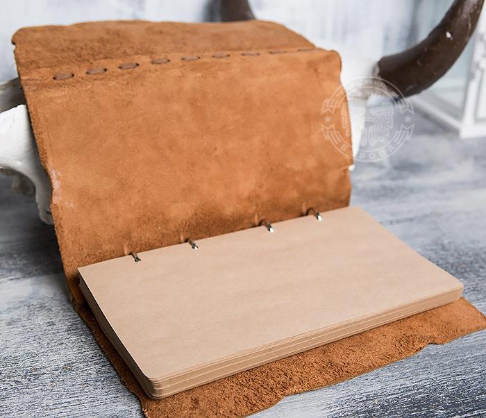 BY01-06-01 Блокнот «Будь на коне» с обложкой из натуральной кожи с застежкой - клыком (А5) фото 09