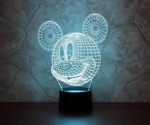 3D лампа Микки Маус