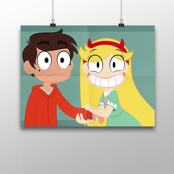 Плакат с Марко и Стар - купить в интернет-магазине kinoshop24.ru с быстрой доставкой