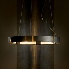 Aura Pendant, Dark Smoke -Open Box from Hubbardton Forge