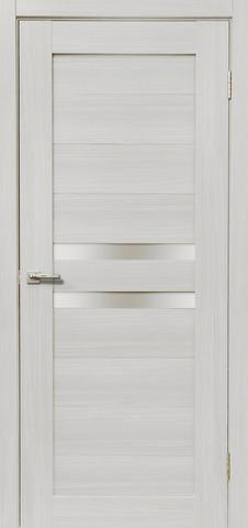 Дверь Дера Мастер 642, стекло белое, цвет сандал белый, остекленная