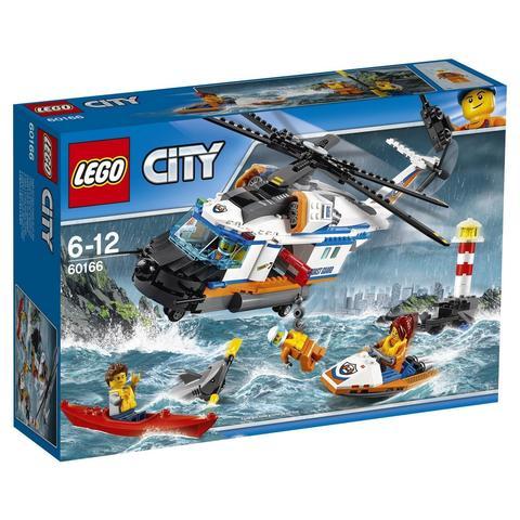 LEGO City: Сверхмощный спасательный вертолёт 60166 — Heavy-Duty Rescue Helicopter — Лего Сити Город