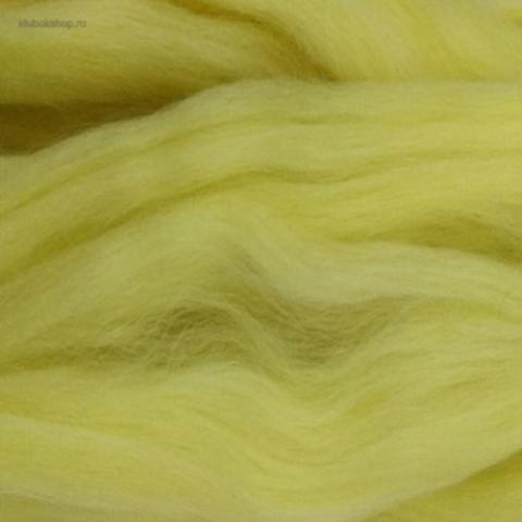 Шерсть для валяния полутонкая 53 Светло-желтый Пехорка
