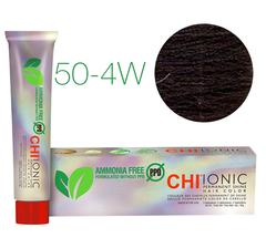 CHI Ionic 50-4W (Темно-натуральный тепло коричневый) - стойкая краска для волос