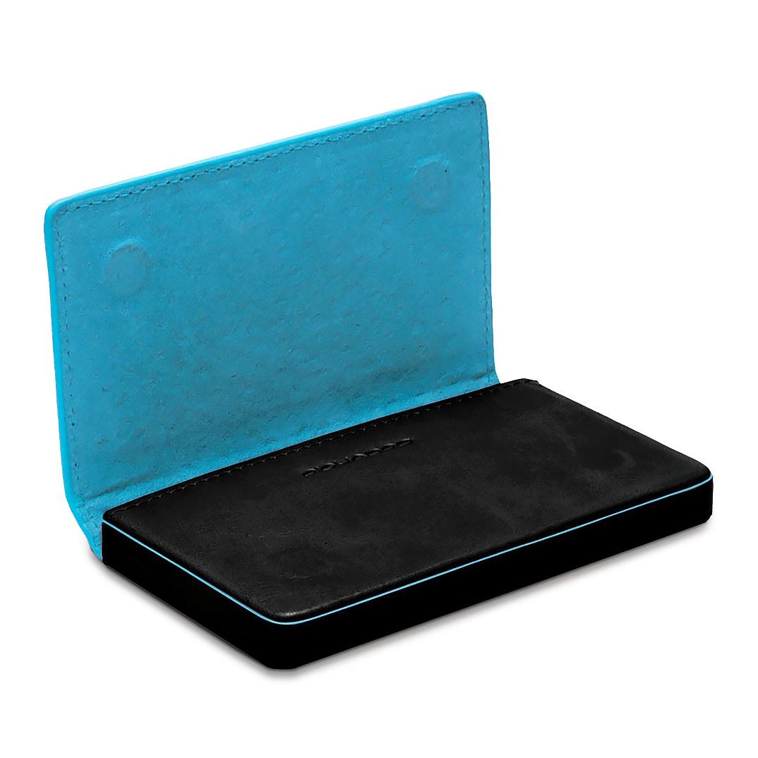 Чехол для кредитных/визитных карт Piquadro Blue Square, цвет черный, 10x6x1,5 см (PP1263B2/N)