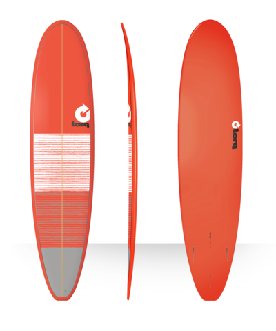 Серфборд TORQ 8'0'' Long - Lines (red/gray)