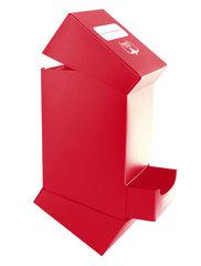 Ultimate Guard - Красная коробочка на 100 карт с отделением для кубиков