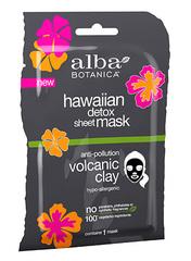 Вулканическая гавайская тканевая маска для детоксикации, Alba Botanica