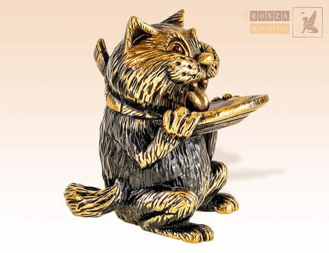 фигурка Кот с блюдцем