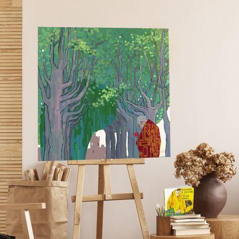 Картина «Заколдованный сад» 30х30см или 80х80см