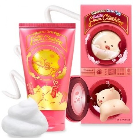 Elizavecca Пенка для умывания Clean Piggy Pink energy Foam Cleansing